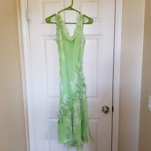 Ice , Green flowy dress